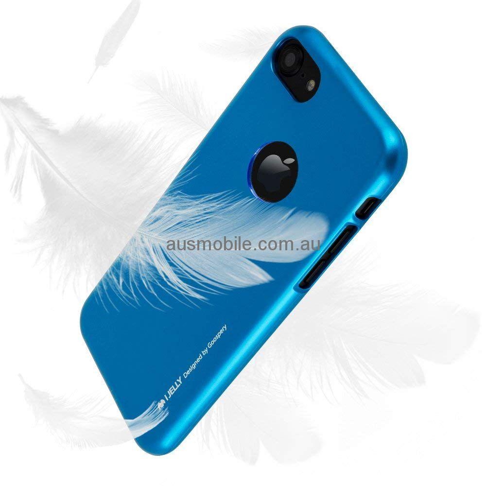 Apple Iphone 7 8 Goospery I Jelly Tpu Case Canvas Diary Blue Save 50