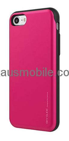 save off 9371e 7fbaa GOOSPERY Sky Slide Back Cover with Card Slot Wallet for Apple iPhone 6 /  iPhone 6S - HOT PINK