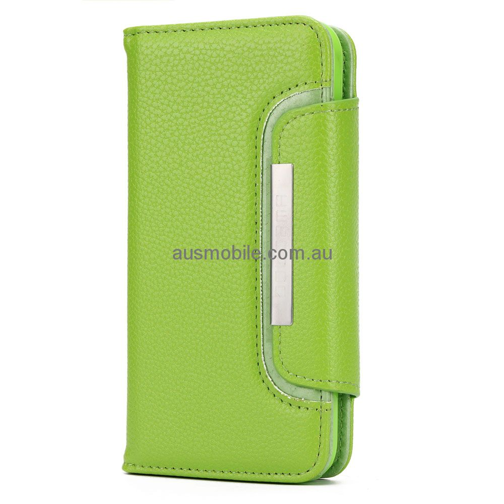 hot sale online e6ee4 60ee4 Dolisma Litchi Pattern 2 in 1 Magnetic Detachable Wallet Case for iPhone 6  / iPhone 6S - GREEN